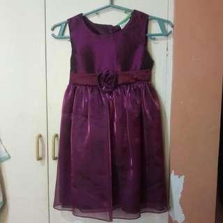 Violet Dress For Kids 3-5yo