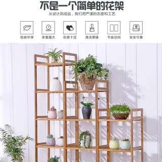 Multi-tier pubescens pot holder balcony console flower shelf succulents indoor rack