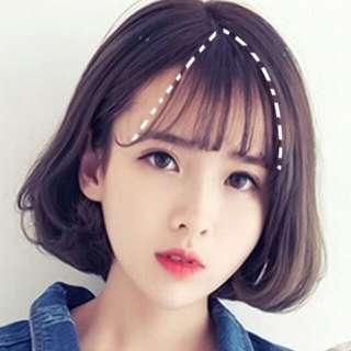 [po] korean ulzzang air fringe clipon wig hair extension