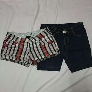 2 in 1 Maong Shorts