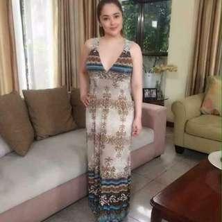 Maxene Long Maxi Dress
