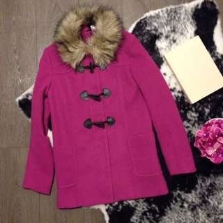 H&M pink jacket with fur