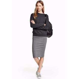 H&M Purple Pencil Skirt