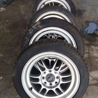 Enkei Rpf1 14' Pcd 100/110 With Tyres