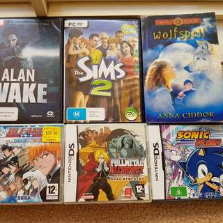 Assorted DS/PC Games/Books