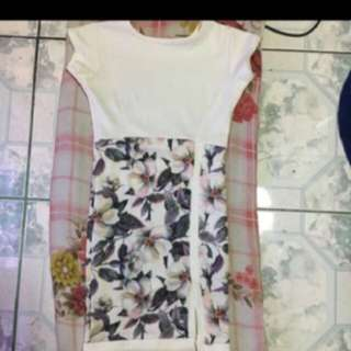 Floral Dress With Slith