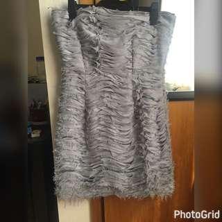 Top shop Strapless Grey Dress