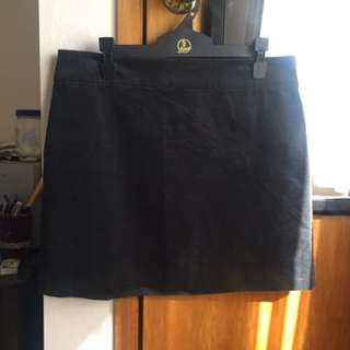 Banana Republic Black Cord Skirt