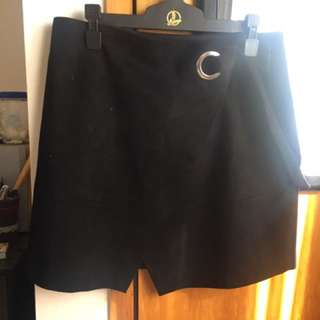 Forever New Black Suede Skirt