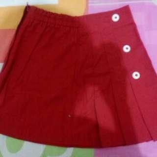 Red Lesenpants Kids Skirt
