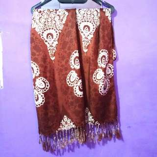 Pashmina Brown_White