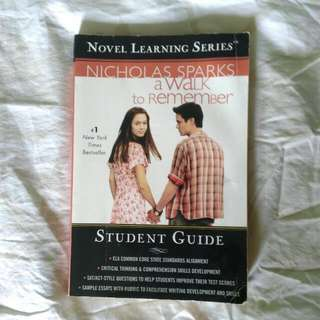 A Walk To Remember: Student Guide | Nicholas Sparks