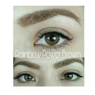 Rainbow Power Solotica  inspired Sparkle Contact lenses