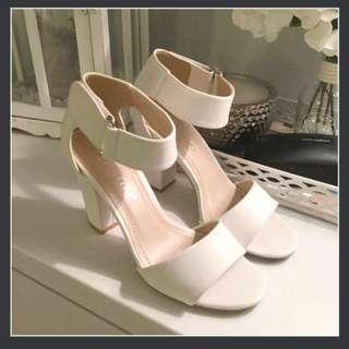White Heels Size 7