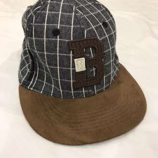 Brown SnapBack With Grid Pattern