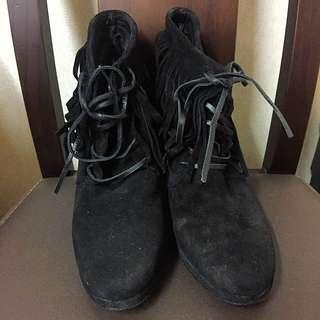 普普流蘇麂皮高跟鞋  #五百元好女鞋