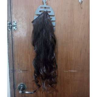 Clip-on hair extensions