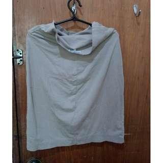 Cream Soft Cloth Skirt