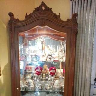 """Solid Narra Cabinet w/mirror & lights"""