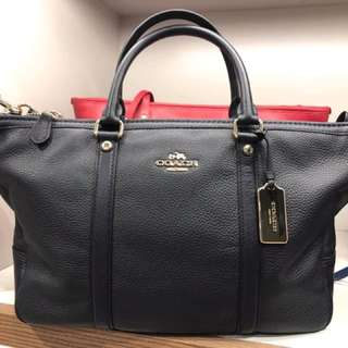Coach Central Satchel in Pebble Leather