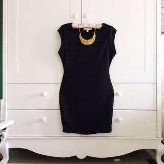 Black Midi Mini Dress Bodycon