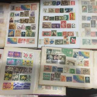 Vintage Stamps With Album