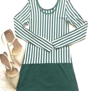 Longsleeves Stripes Dress