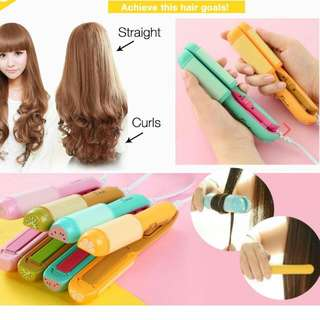 Mini Hair Straightener & Curler