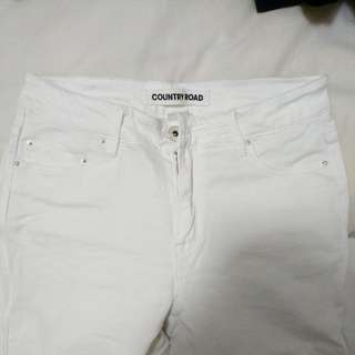 Country Road White Jeggings (Size 4)