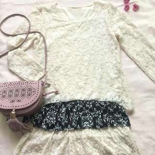 Longsleeves White Dress