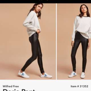 Aritzia Wilfred Free Daria Faux Leather Legging