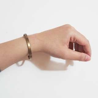 復古純黃銅手環