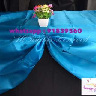 Blue / Black table cloth for rent