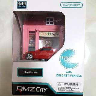 RMZ City 1/64 Diorama Model Kits with Toyota GT86