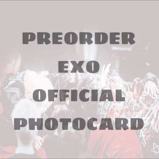 [HELPING] PREORDER EXO OFFICIAL PHOTOCARDS