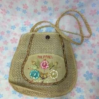 夏天適用菲律賓手工編織側背包