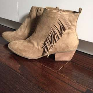 Suede Beige Booties From American Eagle