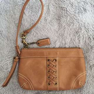 Leather Coach Wrislet