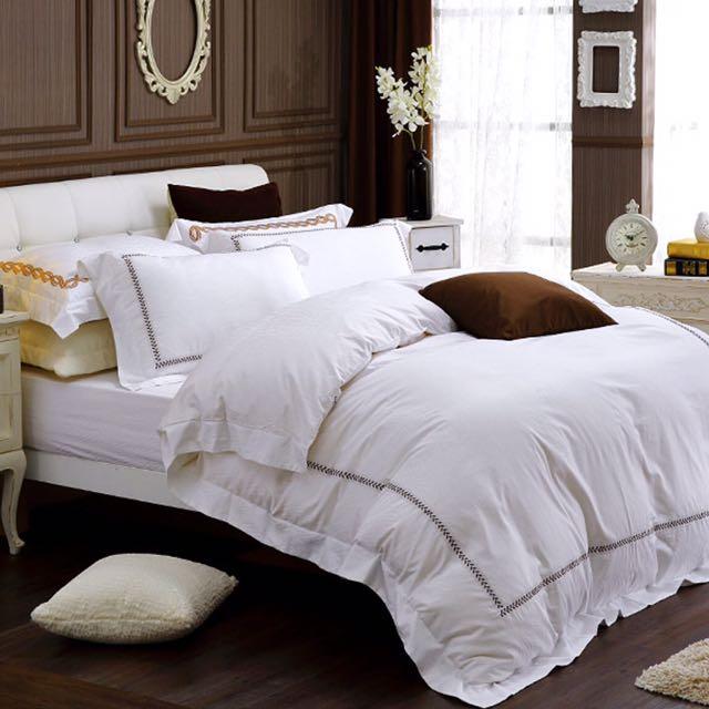 HOYACASA法國風雙人四件式300織床包組