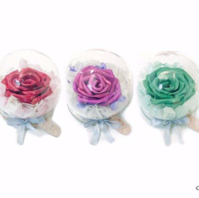 手製皮革玫瑰花