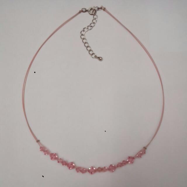 粉紅水鑽頸鍊