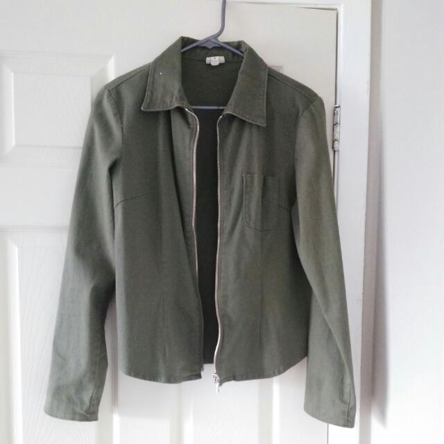 Army Green Light Jacket