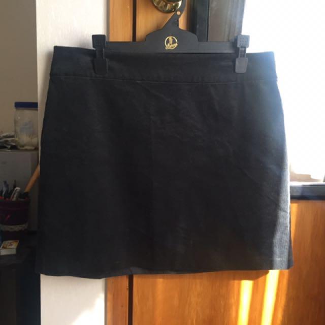 Banana Republic Black Cord Skirt