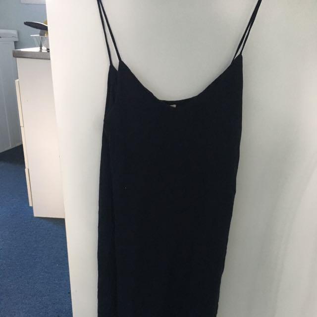 basic blue dress H&M