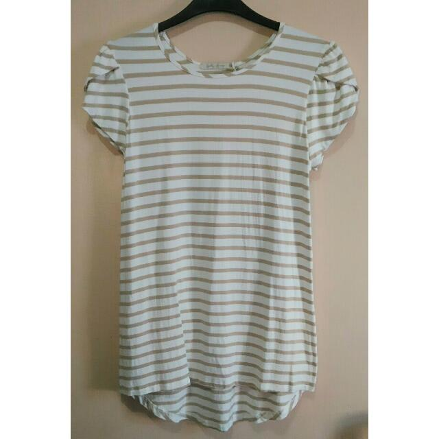 BELLY BUMP Stripe Blouse