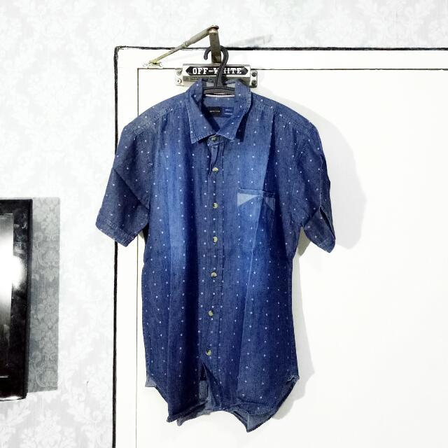 BESTEN Deep Blue Patterned Shirt