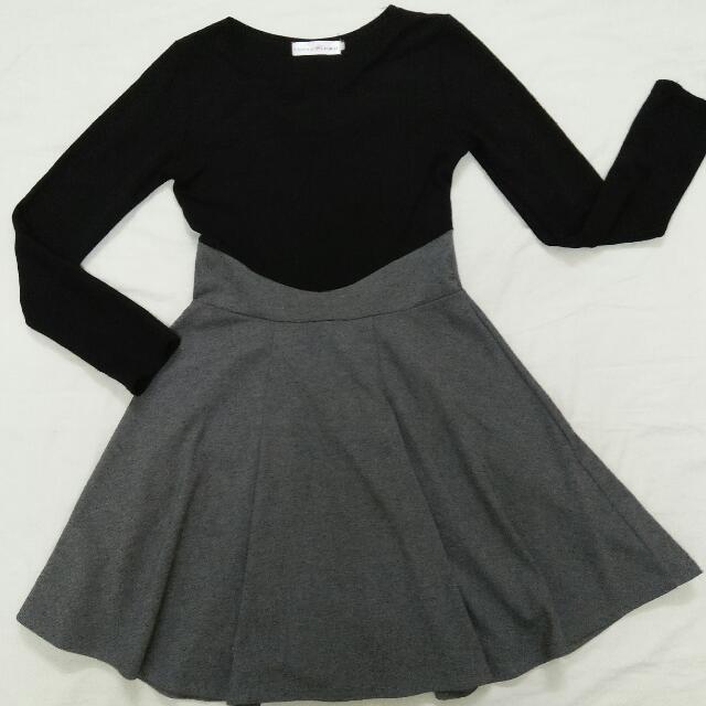 Black & Gray Dress