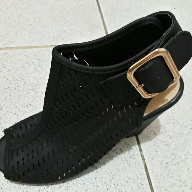 Repriced:Black Sandals
