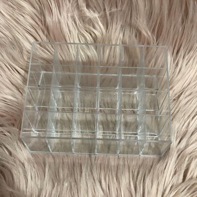 Clear Acrylic 24 Lipstick Storage Display