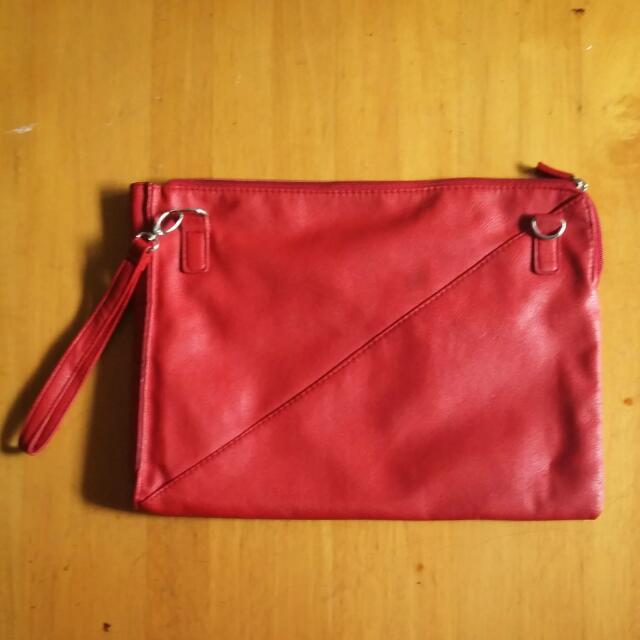 Clucht Bag Merah Cabe (Kw)